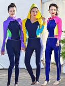 Χαμηλού Κόστους στολές κατάδυσης και αδιάβροχες μπλούζες-JIAAO Γυναικεία Dive κοστούμι του δέρματος Στολές κατάδυσης Προστασία από τον ήλιο UV Αντιανεμικό Πλήρης κάλυψη Μποστινό Φερμουάρ - Κολύμβηση Καταδύσεις Patchwork Μονόχρωμο Φθινόπωρο Άνοιξη Καλοκαίρι