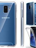 baratos Acessórios para Samsung-Capinha Para Samsung Galaxy J8 (2018) / J7 (2017) / J6 (2018) Antichoque / Ultra-Fina / Transparente Capa Proteção Completa Sólido Macia TPU