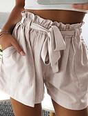 ราคาถูก เดรสผู้หญิง-สำหรับผู้หญิง พื้นฐาน กางเกงขาสั้น กางเกง - สีพื้น ผ้าขนสัตว์สีธรรมชาติ สีเทา สีกากี M L XL