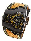 ราคาถูก นาฬิกาข้อมือหรูหรา-Oulm สำหรับผู้ชาย นาฬิกาทหาร ญี่ปุ่น นาฬิกาอิเล็กทรอนิกส์ (Quartz) หนัง ดำ / สีขาว / ฟ้า เข็มทิศ กันกระแทก ระบบอนาล็อก ความหรูหรา แฟชั่น - สีเหลือง แดง ฟ้า หนึ่งปี อายุการใช้งานแบตเตอรี่