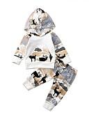 זול לבנים סטים של ביגוד לתינוקות-סט של בגדים כותנה קצר שרוול ארוך דפוס יום יומי / פעיל בנים תִינוֹק / פעוטות