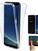 baratos Capinhas para Celulares-Capinha Para Samsung Galaxy S9 / S9 Plus / S8 Plus Antichoque / Ultra-Fina / Transparente Capa Proteção Completa Sólido Macia TPU