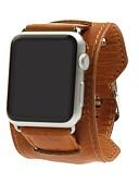 billiga Smartwatch-fodral-Klockarmband för Apple Watch Series 5/4/3/2/1 Apple Modernt spänne Äkta Läder Handledsrem