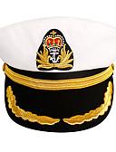ราคาถูก หมวกสตรี-ทุกเพศ สีพื้น สังเคราะห์ หนัง ซึ่งทำงานอยู่-หมวกทหาร ทุกฤดู ขาว สีดำ