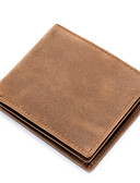 ราคาถูก นาฬิกาข้อมือหรูหรา-สำหรับผู้ชาย ซิป หนังวัว กระเป๋าเงิน สีเทา / สีน้ำตาล / ฤดูใบไม้ร่วง & ฤดูหนาว