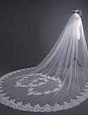 Χαμηλού Κόστους Πέπλα Γάμου-Μίας Βαθμίδας χαριτωμένο στυλ Πέπλα Γάμου Πολύ Μακριά Πέπλα με Διακοσμητικά 118,11 ίντσες (300εκ) Δαντέλα / Τούλι / Στυλ Αγγέλου / Καταρράκτης