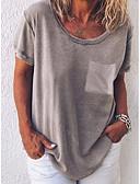 ราคาถูก เสื้อผู้หญิง-สำหรับผู้หญิง เสื้อเชิร์ต สีพื้น สีฟ้า / ฤดูใบไม้ผลิ / ฤดูร้อน / ตก / ฤดูหนาว