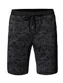 ราคาถูก กางเกงผู้ชาย-สำหรับผู้ชาย พื้นฐาน หลวม กางเกงขาสั้น กางเกง - รูปแบบ สีดำ สีเทา L XL XXL / สายผูก