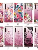 זול מגנים לטלפון-מגן עבור Samsung Galaxy A5(2018) / A6 (2018) / A6+ (2018) שקוף / תבנית כיסוי אחורי פרח רך TPU