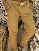 halpa Naisten housut-Naisten Perus Pluskoko Ohut Chinos housut Housut - Yhtenäinen Harmaa Keltainen Khaki XXXL XXXXL XXXXXL