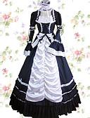 ราคาถูก ชุดโลลิต้า-วินเทจ Princess Lolita สง่างาม หนึ่งชิ้น ชุดเดรส คอสเพลย์และคอสตูม Female ญี่ปุ่น เครื่องแต่งกายคอสเพลย์ แดง / ฟ้า / สีชมพู ลายต่อ Petal แขนยาว Maxi ความยาว