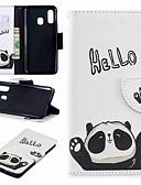 billige Samsung Case-Etui Til Samsung Galaxy A6 (2018) / A6+ (2018) / Galaxy A7(2018) Lommebok / Kortholder / med stativ Heldekkende etui Panda Hard PU Leather
