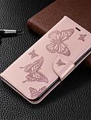 Χαμηλού Κόστους Αξεσουάρ Samsung-θήκη για iphone xr iphone xs max τηλέφωνο περίπτωση pu δερμάτινο υλικό ανάγλυφο μοτίβο πεταλούδα στερεά περίπτωση τηλέφωνο χρώματος για iphone xs x 8 8 συν 7 7 plus 6s 6 plus 6s 6