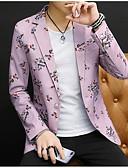 זול ז'קטים-לבן / כחול סקיי / פנינה ורודה מעוטר גזרה צרה פוליאסטר חליפה - פתוח Single Breasted One-button