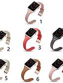 Χαμηλού Κόστους Δερμάτινο ρολόι-γνήσια δερμάτινη ζώνη smartwatch για ρολόι μήλων σειρά 4/3/2/1 κλασικό λουράκι iwatch λουρί