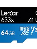 זול כבל & מטענים iPhone-Lexar 64GB מיקרו SD / TF כרטיס זיכרון Class10 95MB/s טלפון נייד