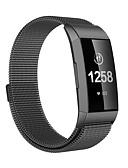 olcso Smartwatch sávok-Nézd Band mert Fitbit Charge 3 FitBit Milánói hurok Fém Csuklópánt