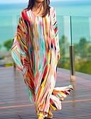 שמלות נשים-מקסי פס - שמלה טוניקה גדול חוף בגדי ריקוד נשים
