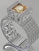 ราคาถูก เข็มขัดแฟชั่น-สำหรับผู้หญิง วงแหวน แหวน แหวนหมั้น Cubic Zirconia 1pc ขาว เพชรพลอยและคริสตัล ทองแดง Geometric Shape อินเทรนด์ ปาร์ตี้ ของขวัญ เครื่องประดับ ปลา เท่ห์