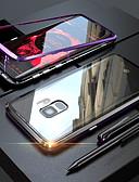 baratos Acessórios para Samsung-Capinha Para Samsung Galaxy S9 / S9 Plus / S8 Plus Transparente / Magnética Capa Proteção Completa Sólido Rígida Vidro Temperado