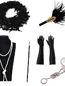povoljno Stare svjetske nošnje-The Great Gatsby Ogrlica Naušnica Retro / vintage 1920s Gatsby Umjetna perja Setovi dodataka za kostime Rukavice Ogrlice Za Party / zabava Festival Halloween Karneval Žene Nakit odjeće / Šeširi