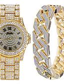 ราคาถูก นาฬิกาข้อมือสแตนเลส-สำหรับผู้ชาย นาฬิกาข้อมือสแตนเลส ญี่ปุ่น นาฬิกาอิเล็กทรอนิกส์ (Quartz) ชุดของขวัญ สแตนเลส เงิน / ทอง / Rose Gold ไม่ โครโนกราฟ น่ารัก นาฬิกาใส่ลำลอง ระบบอนาล็อก ความหรูหรา มาใหม่ - สีทอง สีเงิน Rose