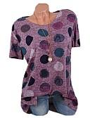 povoljno Majica s rukavima-Majica s rukavima Žene Pamuk Na točkice Kolaž / Print Blushing Pink