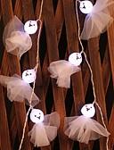Χαμηλού Κόστους Καλώδια κινητού τηλεφώνου-1,5 ίντσες Φώτα σε Κορδόνι 10 LEDs Θερμό Λευκό Διακοσμητικό Μπαταρίες AA Powered 1set