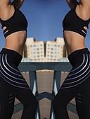 זול נשים טנקים & Camisoles-בגדי ריקוד נשים מכנסי יוגה צבע אחיד ריצה כושר וספורט טייץ רכיבה על אופניים חותלות לבוש אקטיבי פתילת לחות סטרצ'י (נמתח) רזה