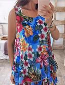 ราคาถูก รถถังสตรีและเสื้อชูชีพ-สำหรับผู้หญิง ขนาดพิเศษ เสื้อกล้าม พื้นฐาน ลายพิมพ์ ลายดอกไม้ สีม่วง