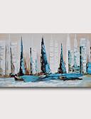 povoljno Oprema za MacBook-ručno oslikana rastegnut ulje na platnu platnu spreman za objesiti apstraktni stil materijala visoke količine zid umjetnosti moderne morske obale jedrilice