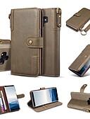 ราคาถูก เคสสำหรับโทรศัพท์มือถือ-Case สำหรับ Samsung Galaxy Note 9 / Note 8 Wallet / Card Holder / with Stand ตัวกระเป๋าเต็ม สีพื้น Hard หนังแท้