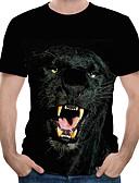 povoljno Muške majice i potkošulje-Veličina EU / SAD Majica s rukavima Muškarci Životinja Okrugli izrez Print Crn