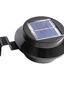 billige Eksotisk herreundertøy-1pc 1 W Solar Wall Light Vanntett / Solar / Dekorativ Varm hvit / Kjølig hvit 2 V Utendørsbelysning / Svømmebasseng / Courtyard 3 LED perler