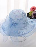 ราคาถูก หมวกสตรี-สำหรับผู้หญิง ลายดอกไม้ ตารางไขว้ ซึ่งทำงานอยู่ พื้นฐาน สไตล์น่ารัก-ดวงอาทิตย์หมวก ฤดูใบไม้ผลิ ฤดูร้อน ผ้าขนสัตว์สีธรรมชาติ สีเทา สีม่วง