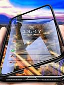 baratos Capinhas para Xiaomi-Capinha para xiaomi pocophone f1 / redmi note 8 pro / redmi note 7 pro à prova de poeira / espelho / ultrafina capa proteção completa corpo magnético de metal temperado transparente estojo magnético