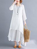 שמלות נשים-מידי אחיד - שמלה טוניקה סווינג כותנה מידות גדולות בסיסי סגנון סיני בגדי ריקוד נשים
