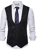 Χαμηλού Κόστους Ανδρικά μπλουζάκια και φανελάκια-Ανδρικά Veste Λαιμόκοψη V Πολυεστέρας Μαύρο / Βαθυγάλαζο / Γκρίζο / Λεπτό