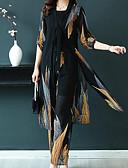 ราคาถูก กางเกงผู้หญิง-สำหรับผู้หญิง Street Chic / Sophisticated ชุด - ลายสก็อต / ลายโค้ง กางเกง แยก