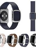 ราคาถูก วง Smartwatch-สายนาฬิกาสำหรับแอปเปิ้ลดูชุด 4/3/2/1 สายหนังแอปเปิ้ลห่วงหนังแท้สายรัดข้อมือ