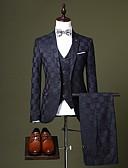 Χαμηλού Κόστους Κοστούμια-Μαύρο / Μπορντώ / Βαθυγάλαζο Περιπετειώδης Κατά παραγγελία εφαρμογή Πολυεστέρας Κοστούμι - Εγκοπή Μονόπετο Ενός Κουμπιού / Στολές