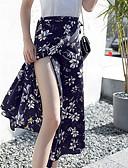 olcso Női szoknyák-Női Hinta Alap Szoknyák - Virágos Lóhere Arcpír rózsaszín Tengerészkék Egy méret / Vékony