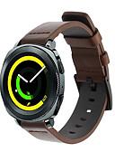ราคาถูก วง Smartwatch-สายนาฬิกา สำหรับ Gear Sport / Gear S2 Classic / Samsung Galaxy Watch 42 Samsung Galaxy สายยางสำหรับเส้นกีฬา หนังแท้ สายห้อยข้อมือ