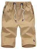 זול חליפות-בגדי ריקוד גברים בסיסי רזה שורטים מכנסיים - אחיד שחור כחול בהיר לבן M L XL