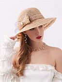 ราคาถูก หมวกสตรี-สำหรับผู้หญิง ลายดอกไม้ สังเคราะห์ ตารางไขว้ ซึ่งทำงานอยู่ พื้นฐาน สไตล์น่ารัก-หมวกปีกกว้าง ดวงอาทิตย์หมวก ทุกฤดู สีน้ำเงินกรมท่า สีเทา สีกากี