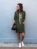 ราคาถูก เสื้อฮู้ดและเสื้อกันหนาวสเว็ตเชิ้ตผู้หญิง-สำหรับผู้หญิง หลวม ไม่เป็นทางการ Hoodie สีพื้น ฝ้าย