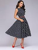 זול שמלות מודפסות-מידי מנוקד - שמלה סווינג בגדי ריקוד נשים