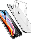 baratos Capinhas para iPhone-Capinha Para Apple iPhone 11 / iPhone 11 Pro / iPhone 11 Pro Max Antichoque / Ultra-Fina / Transparente Capa traseira Sólido Macia TPU