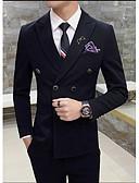 Χαμηλού Κόστους Κοστούμια-Μαύρο / Πορτοκαλί / Κίτρινο Μονόχρωμο Κατά παραγγελία εφαρμογή Βαμβάκι Κοστούμι - Μύτη Σταυρωτό Με Τέσσερα Κουμπιά / Στολές
