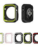 olcso Smartwatch tok-szilikonfedél alma karóra tokhoz, teljes keret gumi védő lágy tok az iwatch 4/3/2/1 számára